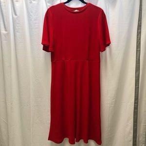HM Red Midi Dress